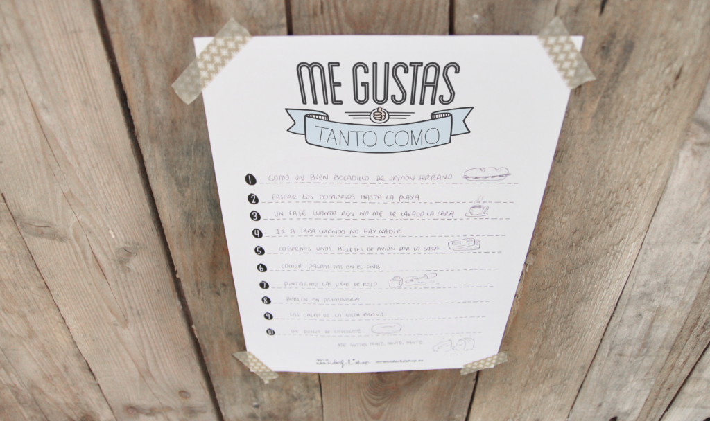 "Imprimible ""Me gustas"" de Mr. Wonderful"